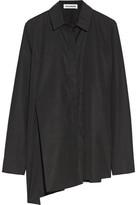 Jil Sander Asymmetric Cotton-poplin Shirt - Black