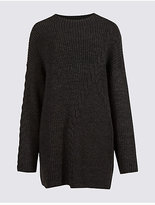 Limited Edition Cable Knit Longline Round Neck Jumper