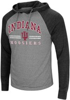 Colosseum Men's Heathered Gray Indiana Hoosiers Big & Tall Personal Flair Long Sleeve Hoodie T-Shirt