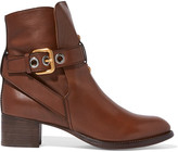 Chloé Leather Ankle Boots - Dark brown