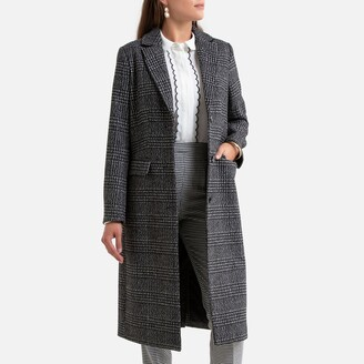Anne Weyburn Long Checked Buttoned Coat