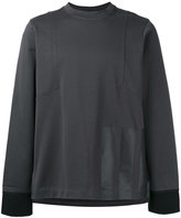 Y-3 Stripe panel sweatshirt - men - Cotton - S