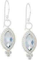 Jude Frances 18K Provence Pave Diamond & Topaz Marquise Dangle & Drop Earrings