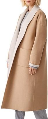 Eileen Fisher Shawl Collar Wool Coat