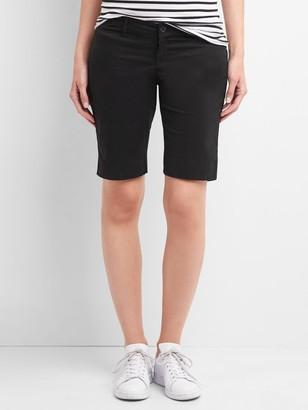 """Gap 10"""" Maternity Inset Panels Khaki Bermuda Shorts"""