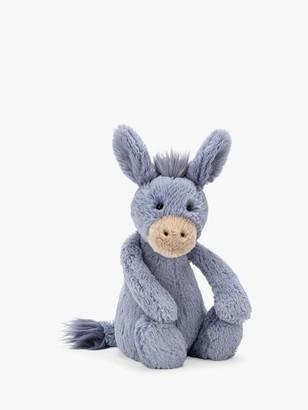 Jellycat Bashful Donkey Soft Toy, Medium