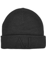 Armani Jeans Navy Embroidered Wool Blend Beanie