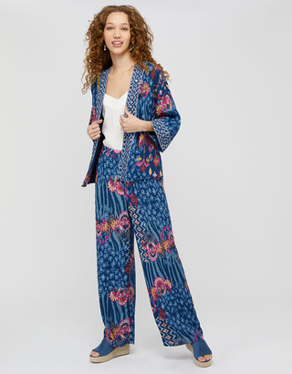 Under Armour Mercy Printed Kimono in Sustainable Viscose Blue