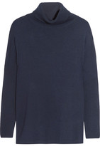 Allude Wool Turtleneck Sweater - Midnight blue