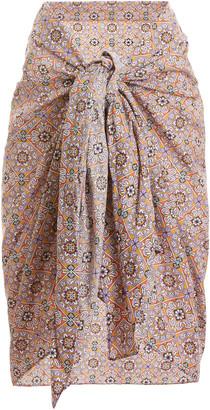 Rujuta Sheth Printed Tie-Front Cotton Pareo