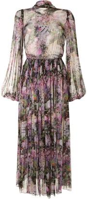Romance Was Born Montmartre floral print dress