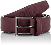 Barneys New York Women's Grained Leather Belt-RED