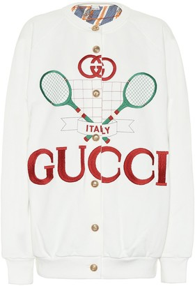 Gucci Tennis cotton cardigan