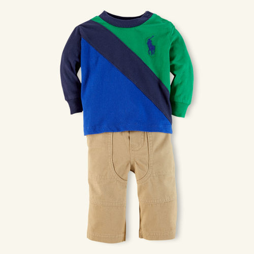 Ralph Lauren Cotton Banner Tee & Pant Set