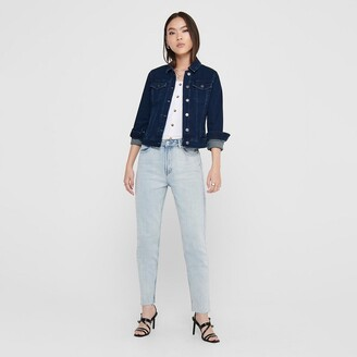 Jacqueline De Yong Denim Short Straight Fit Jacket