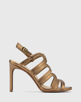 Wittner - Women's Silver Sandals - Rosko Leather Caged Strappy Stilettos - Size One Size, 36 at The Iconic