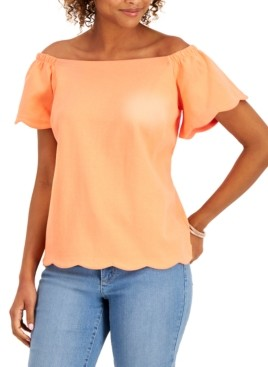 Charter Club Off-The-Shoulder Top, Created For Macy's