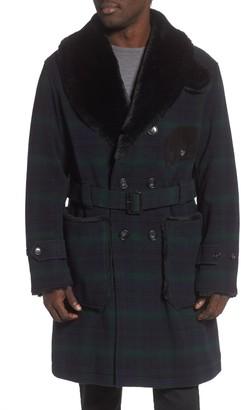 Woolrich Mackinaw Faux Fur Collar Coat