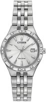 Citizen 27mm Stainless Steel Bracelet Watch w/ Diamonds