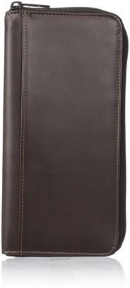 Dopp Men's Regatta Leather Zipper Passport Organizer Wallet