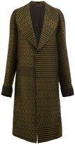 Haider Ackermann contrast pattern coat