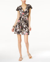INC International Concepts Petite Floral-Print Wrap Dress, Only at Macy's
