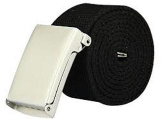 The Leather Emporium Ladies Plain Canvas Belt Up To Size 16 Black