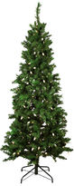 Asstd National Brand 7' Pre-Lit Single Plug Slim Mixed Long Needle PineArtificial Christmas Tree with Multi-Function LEDLights