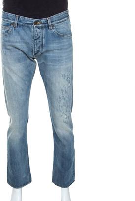 Dolce & Gabbana Blue Denim Straight Cut Jeans M