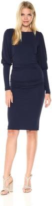 Nicole Miller Women's Matte Jersey Puff Sleeve Dress