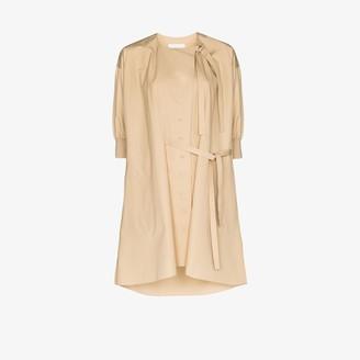 Chloé Button-Up Tie Detail Mini Dress
