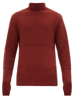 Oliver Spencer Talbot Funnel-neck Wool Sweater - Mens - Red
