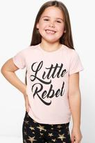 Boohoo Girls Little Rebel Tee