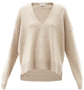 Co V-neck Wool-blend Sweater - Beige