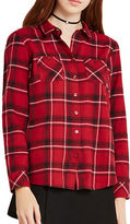 BCBGeneration Tartan Cotton Plaid Shirt