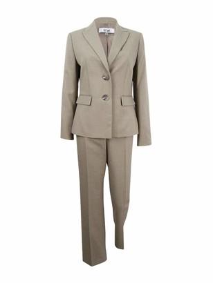 Le Suit LeSuit Women's Plus Size Shadow Stripe 2 Button Notch Lapel Pant
