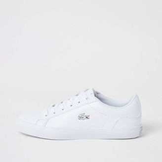 Lacoste River Island Womens leather Lerond lace-up trainers