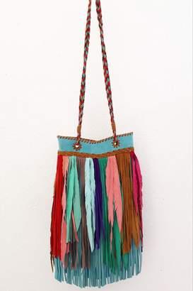Areias Leather Multicolored Fringes Bag