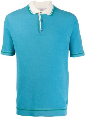 Pringle Contrast Piping Cotton Polo Shirt