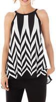 Katherine Barclay Sleeveless Monochrome Top