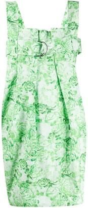 Ganni Poplin Buckle Mini Dress
