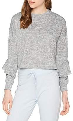 New Look Women's 5646937 Pyjama Top, Mid Grey