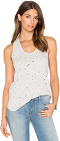 Bobi Slubbed Ripped Holes Scoop Neck Tank
