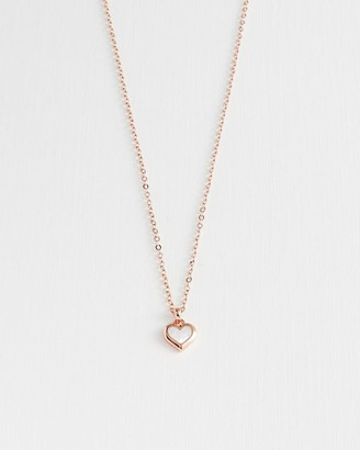 Ted Baker Mother Of Pearl Heart Pendant