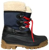 DSQUARED2 Faux Shearling & Nylon Canvas Snow Boots
