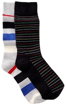 Happy Socks Stripes Crew Socks - Pack of 2