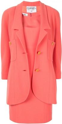 Chanel Pre Owned CC setup suit jacket dress