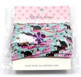 "mdribbons 5/8"" 10Yds/Pack Animal Series Cat Print Elastic Fold Over Elastic-DIY Hair Tie Headband"