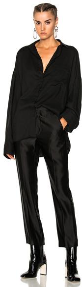 Haider Ackermann Oversized Shirt in Black.