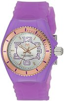 Technomarine Women's 'Cruise Jellyfish' Swiss Quartz Stainless Steel and Silicone Casual Watch, Color:Purple (Model: TM-115138)